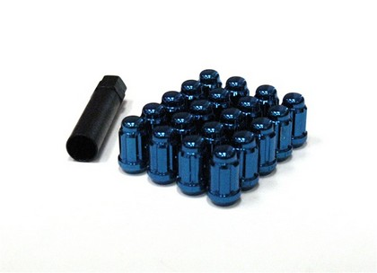 03-Up Cadillac CTS;;04-Up Cadillac CTS-V Muteki Closed End Lug Nuts 12x1.5 (Blue)