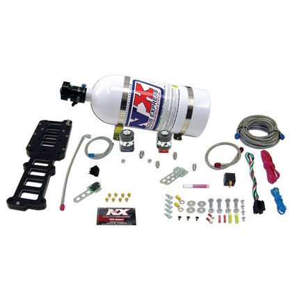 80-86 Ford F150 5.0L Nitrous Express Nitrous System Edelbrock Performer and RPM Plate (with 10 LB Bottle)