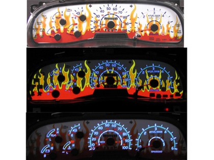 97-98 Ford F150 Expedition NR Automobile Accessories Dancing Flame Glo Gauge Face