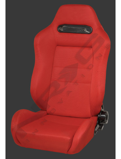 1999-2003 Audi S6 NRG Racing Seat - Type-R Cloth Sport (Red w/ Red Stitch) (Left)