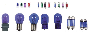 77-80 Mercury Monarch NRG Innovations Colored Miniature Bulbs, 194 - 12V 2CP (Purple)