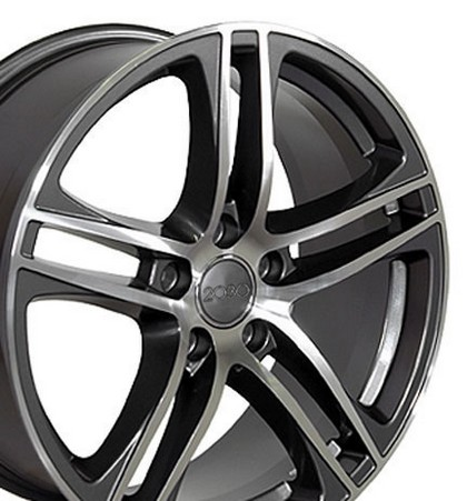 "Volkswagen Golf 93-05 OE Wheels 17""X7.5"" New RS4 Replica Wheel (Hyper Silver) - Bolt 5- 100"