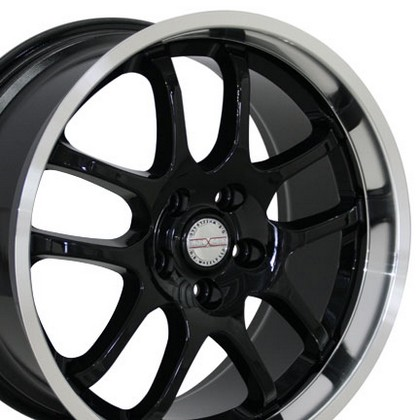 "Nissan Maxima 89-Current OE Wheels 18""X9"" G35 Sedan 10 Spoke Replica Wheel (Black)"