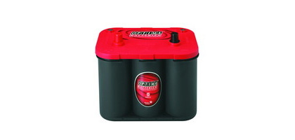 98-01 Cherokee (Xj) Base L4, L6 2.5, 4.0 Optima Battery - RedTop - Cold Crank Amps 800 - Crank Amps 1000 - Top Terminal - Positive Terminal on Left