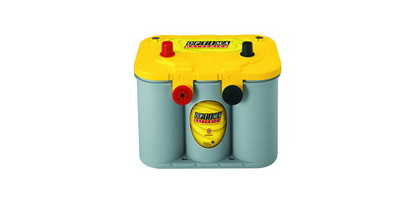 98-01 Cherokee (Xj) Base L4, L6 2.5, 4.0 Optima Battery - YellowTop - Cold Crank Amps 750 - Crank Amps 870 - Dual Terminal
