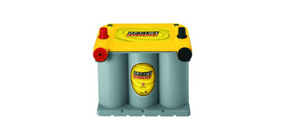 98-01 Cherokee (Xj) Base L4, L6 2.5, 4.0 Optima Battery - YellowTop - Cold Crank Amp 650; Crank Amp 810 - Dual Terminal