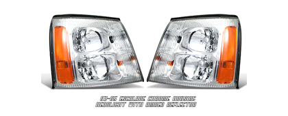 03-05 Escalade Option Racing Headlights - Chrome w/o HID