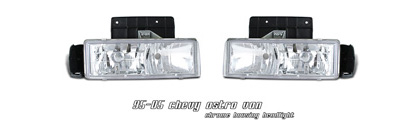 95-05 Astro Van Option Racing Headlights - Chrome
