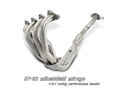 97-01 Mirage 1.8L Option Racing Headers - Stainless Steel