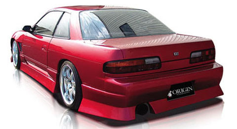 89-93 Nissan Silvia S13 (JDM Front w/ Coupe Trunk) Origin Aggressive Body Kit - Rear Bumper