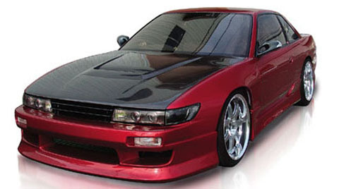 89-93 Nissan Silvia S13 (JDM Front w/ Coupe Trunk) Origin Stylish Body Kit - Side Skirts
