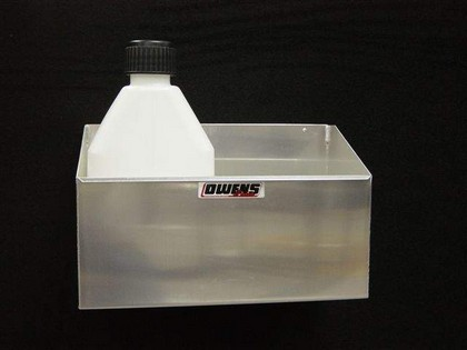 1964-1972 Chevrolet Chevelle Owens RaceMates Two Bay Fuel Jug Rack - Smooth Aluminum