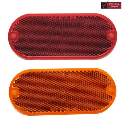 1998-2000 Chevrolet Metro Pilot Reflector w/ Adhesive Backing (Amber)