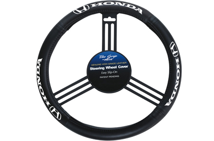 All Hondas (Universal) Pilot Steering Wheel - Genuine Leather Cover (Black)