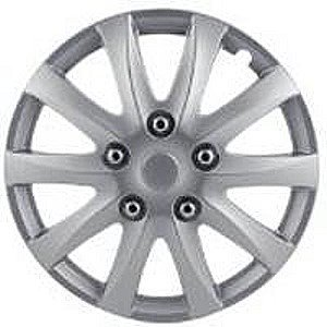 "2006-2008 BMW 7_Series Pilot 10 Spoke Camry Style 15"" Wheel Cover (Silver)"