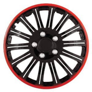"2004-2008 Ford F150 Pilot Cobra 15"" Wheel Cover (Black Chrome w/ Red Accent)"