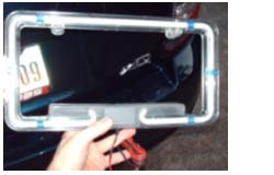 After Getting Your New PlasmaGlow Neon License Plate Out Of The Casing,  Proceed To Open The Hatch (trunk) Of The Car.