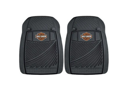 1964-1973 Ford Mustang Plasticolor Rubber Floormats - Harley Davidson Weatherpro Trim-To-Fit w/ Nib Backing