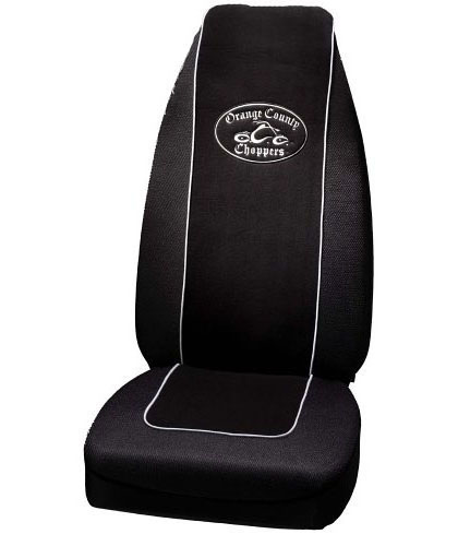 Plasticolor Seat Covers Seat Cover - Highback - Black - Cloth - Orange