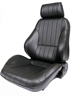 1999-2001 Isuzu Vehicross Procar Racing Seat - Rally Series 1000, Black Vinyl (Right)