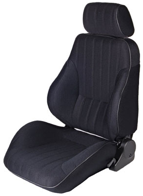 2002-2004 Volvo S40 Procar Racing Seat - Rally Series 1000, Black Velour (Left)
