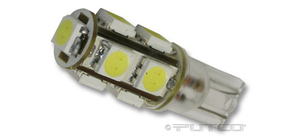 04-07 Chrysler Pacifica (With halogen capsule headlamps) ;; 04-07 Chrysler Pacifica (With HID (high intensity discharge) headlamps) Putco Colored Bulbs - 194 Wedge LED 360� Premium Replacement (White)