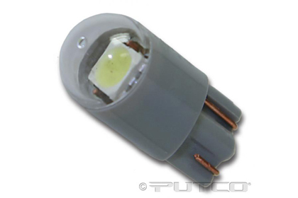04-07 Chrysler Pacifica (With halogen capsule headlamps) ;; 04-07 Chrysler Pacifica (With HID (high intensity discharge) headlamps) Putco Colored Bulbs - 194 Wedge Premium LED Replacement (White)