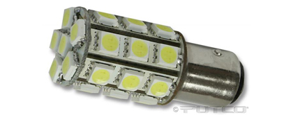 93-95 Mazda 929 Putco Colored Bulbs - 1156 LED 360� Premium Replacement (Amber)