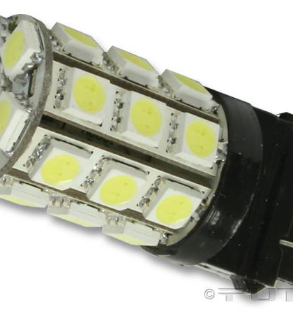 03-10 Gmc Savana (With halogen capsule headlamps) ;; 03-10 Gmc Savana (With sealed beam headlamps) Putco Colored Bulbs - 3157 LED 360� Premium Replacement (White)