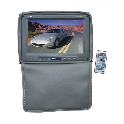 "2000-2005 Lexus Is Pyle Adjustable Headrests w/ Built-In 11"" TFT/LCD Monitor W/IR Transmitter & Cover (Gray)"