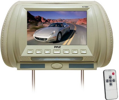 "2000-2005 Lexus Is Pyle Adjustable Hideaway Headrest 7"" TFT Video Monitor (Tan)"