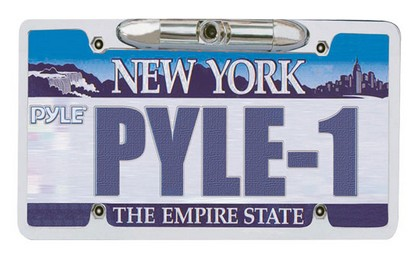 "1978-1990 Plymouth Horizon Pyle License Plate Rear View Backup CCD Color Camera ""Zinc Metal Chrome"""