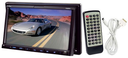"1998-2005 Mercedes M-class Pyle 7"" Double DIN TFT Touch Screen DVD/VCD/CD/MP3/MP4/CD-R/USB/SD-MMC Card Slot/AM/FM/iPod Connector"