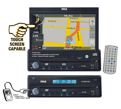 "1998-2005 Mercedes M-class Pyle 7"" Motorized TFT Touch Screen DVD/CD/MP3 Player/AM/FM/SD USB/Built-In GPS/TTS w USA/Canada & Mexico Maps"