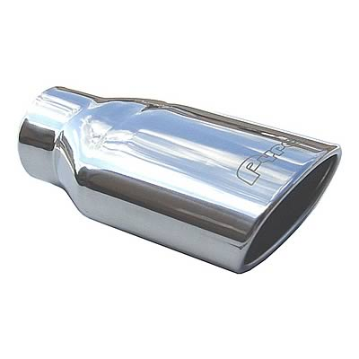 """2.5/"""" Inlet 3.5/"""" Outlet 18/"""" Black Slant Angle Cut Exhaust Muffler Tailpipe Tip"""