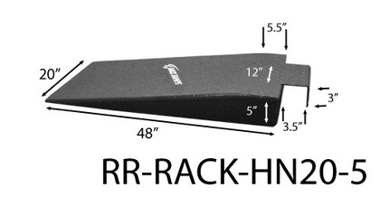 "1980-1986 Datsun Datsun_Truck Race Ramps Hook Nosed Ramp, 20"" Wide, 5"" High"