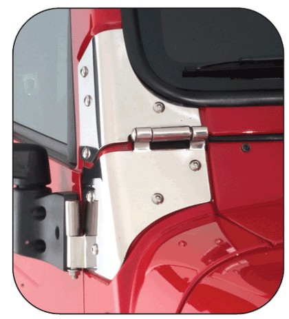 07-12 JK Rampage Windshield Hinge - Stainless Steel
