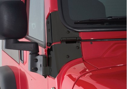 07-12 JK Rampage Windshield Hinge - Black