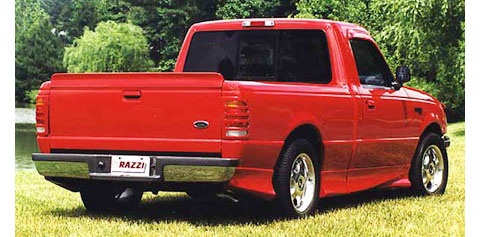 1998-2000 Ford Ranger Razzi Body Kit - Rear Bumper Skirt - Center (ABS Plastic)