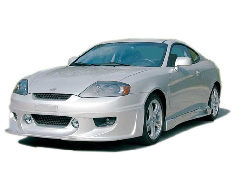 2003-2008 Hyundai Tiburon Razzi 548-100 Body Kit - Front Air Dam (ABS Plastic)