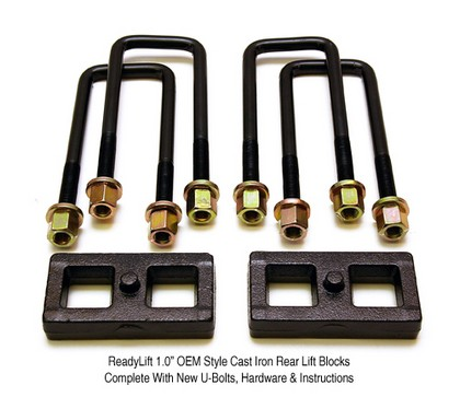 "1988-1998 GMC 1? Tall Block-1500 C, K 2WD, 4WD ReadyLift� OEM Style Block Kit (Rear Lift: 1.0"")"