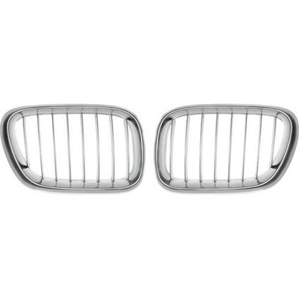 00-03 Bmw X5-Series E53 Restyling Ideas Performance Grille Chrome Hd + Silver