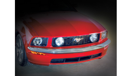 05-09 Mustang V6 (Excludes California Special, Shelby GT, or Shelby GT 500 models) Retro USA Mustang Front Bumper V6