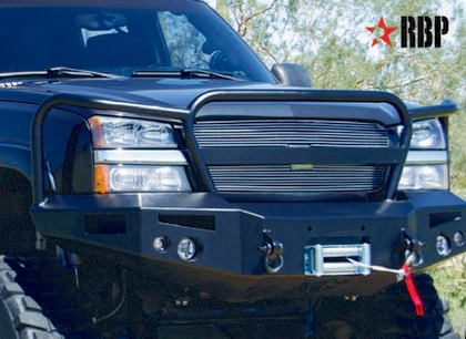 03-07.5 Chevrolet Silverado Heavy Duty (Classic)  Rolling Big Power HD Front Bumper W/ Grill Guard
