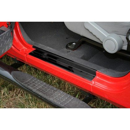07-10 Jeep Wrangler JK (2-Door) Rugged Ridge Entry Guards (Black)