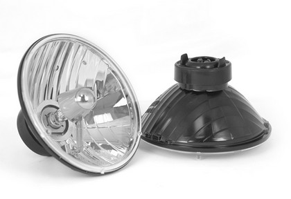 74-79 Dodge Ramcharger Rugged Ridge Crystal H2 Headlights - Round (Includes Bulbs)