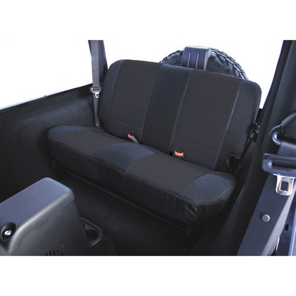 80-86 Jeep CJ7 Rugged Ridge Fabric Seat Cover - Rear (Black)