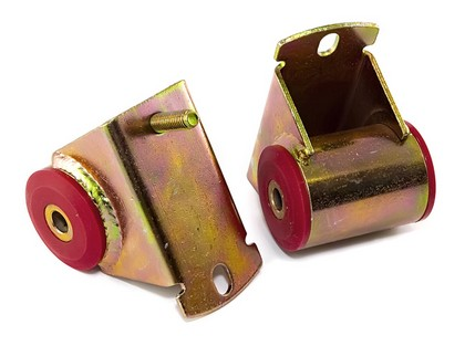 97-06 Jeep Wrangler (4.0L) Rugged Ridge Engine Mounts - Polyurethane (Red)