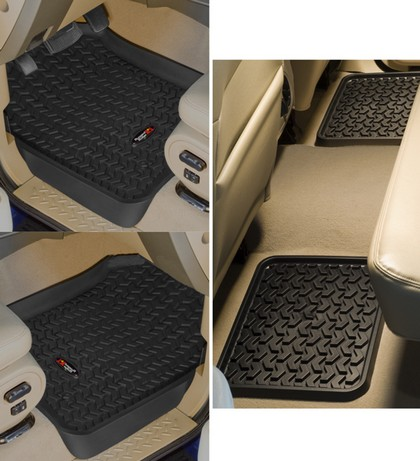 02-03 Lincoln Blackwood Rugged Ridge All Terrain Floor Liners - Front and Rear (Black)