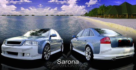 98-04 A6 4DR Sarona Body Kit - Full Kit